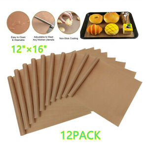 12pcs Teflon Transfer Sheets For Heat Press Ptfe Non Stick Reusable Craft Paper