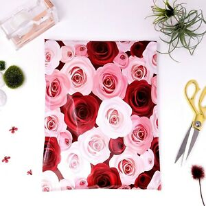 Designer Poly Mailers Envelopes Shipping Bags Packaging 10x13 Roses