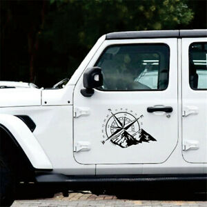 New Car Truck Accessories Vinyl Compass Decal Graphic Sticker For Body Hood