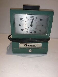 Acroprint 125qr4 Time Clock Time Recorder Machine Tested Working Condition