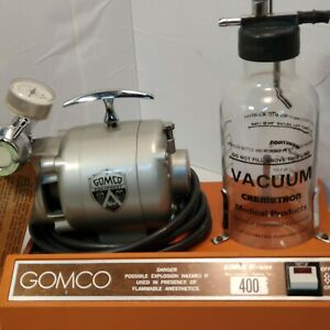 Gomco 400 Aspirator Vacuum Table Top Suction Pump With Glass Canister Untested