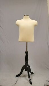 Pinnable Child Dress Form Mannequin 32 28 32 On Wooden Tripod Base