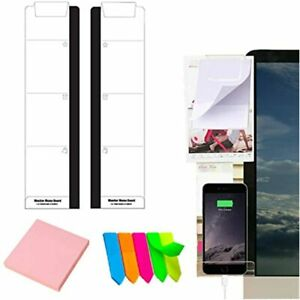 Monitor Memo Board 2 Pcs Acrylic Message Boards Pad Phone Holder Left amp Side