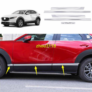 6pc For 2020 2021 Mazda Cx 30 Stainless Chrome Side Door Molding Body Cover Trim