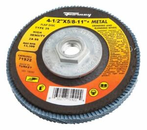 Forney 71920 Flap Disc Type 29 5 8 inch 11 Threaded Arbor 40 grit 4 1 2 inch