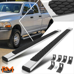 For 09 20 Dodge Ram 1500 3500 Crew Cab 5 Step Pad Flat Nerf Bar Running Boards