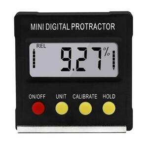 Cube Inclinometer Angle Gauge Meter Digital Lcd Protractor Boxelectr Level Q4m5