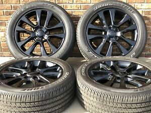 20 Jeep Grand Cherokee 2019 Oem Black Wheels Rims Tires Oe 9167 2017 2018 2020