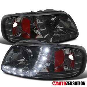 For 1997 2003 Ford F150 1997 2002 Expedition Led Drl Smoke Projector Headlights