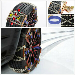 Car Snow Mud Anti Skid Tire Chains Steel Winter Universal Safety Accessories Fits Chevrolet