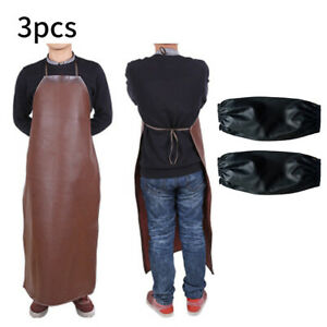 Old Leather Welder Welding Carpenters Blacksmith Apron Protective Sleeve Cloth