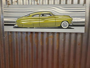 1949 1950 Mercury 37x12 Signed Numbered Silkscreen Print Max Grundy Poster Vtg