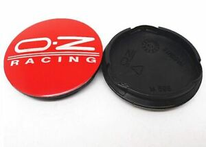4pcs 55 Mm For Oz Racing M582 Red Logo Emblem Alloy Wheel Center Caps Hub Caps