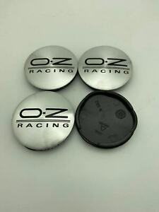 4pcs 55 Mm For Oz Racing M582 Silver Black Alloy Wheel Center Caps Hub Rim Caps