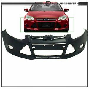 Front Bumper Cover For 2012 2013 2014 Ford Focus Sedan W Tow Hole Primed