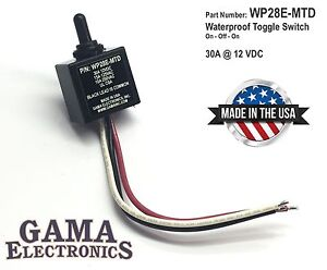 Waterproof 3 Position On off on Toggle Switch Wp28e mtd