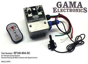 Rf Remote Control System 80 Amp Reverse Polarity 12vdc Motor Control With Speed