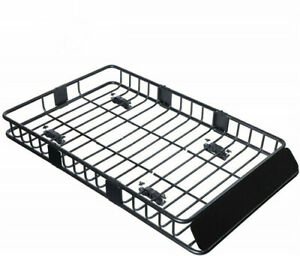 Universal Roof Rack Cargo Basket 250lbs Capacity Fits For Truck Suv Off Roader