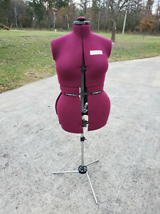 My Double Adjustable Dress Form With Tripod Stand Burgundy