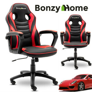 Executive Racing Gaming Office Chair Swivel Computer Desk Chair Sport Pu Leathe