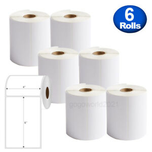 6 Rolls 4 x6 250 Direct Thermal Shipping Labels For Zebra 2844 Zp450 Eltron