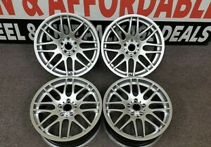 19 Staggered Csl Style Wheels Rims Fit Bmw Set Hyper Silver 5x120 Concave
