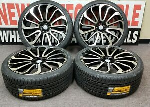 24x10 Wheels Tires Fit Range Rover Autobiography Gloss Black 24 Inch Set 4