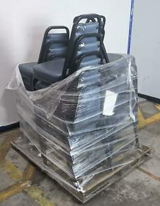 Lot Of 19 Virco Lounge Office School Stacking Chairs Local Pickup Read