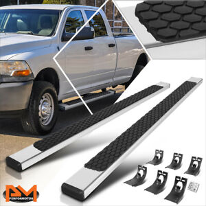 For 09 20 Dodge Ram 1500 3500 Crew Cab 5 Honeycomb Step Pad Flat Running Boards