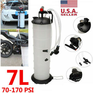 Manual 7 Liter Oil Fluid Changer Vacuum Extractor Pump Transfer Tank Remover Us