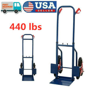 440lb Stair Climbing Climber Moving Dolly Hand Truck Warehouse Appliance Cart Us