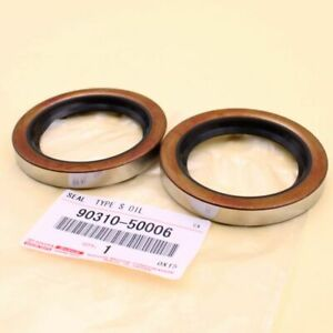Two Genuine 1973 2006 Toyota Pickup 4runner T100 Rear Axle Oil Seals 90310 50006