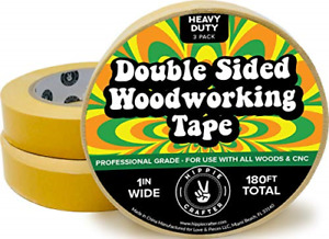 3 Pk Double Stick Tape For Woodworking 1 Inch Wide Wood Tape Double Sided For