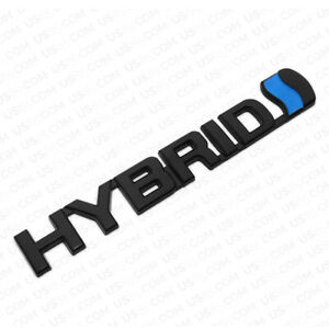 Universal Fashion Metal Hybrid Car Decal Badge Emblem Sticker Auto Decoration