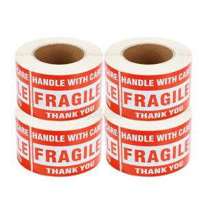 2000 Pcs 3 x5 Fragile Stickers Handle With Care Warning Mailing Shipping Labels