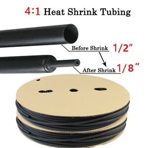 Heat Shrink Tubing 4 1 Wire Cable Wrap Electrical Insulation Marine Grade 10ft