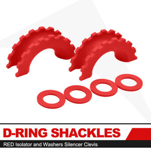 Pair Red Isolator Washers Silencer Clevis D ring Shackle Protection Covers