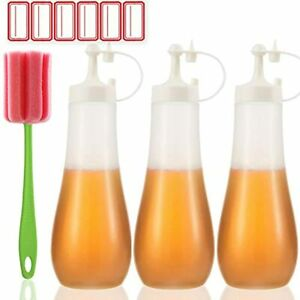Condiment Squeeze Bottle Sauce Squirt For Kitchen Plastic Syrup Salad Dressing 3