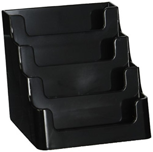 Deflecto Sustainable Office Recycled Business Card Holder Stand 4 Compartments