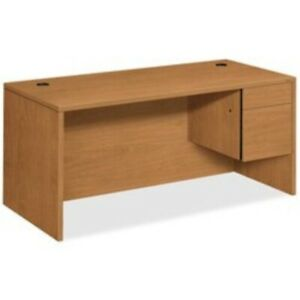 Hon Right Pedestal Desk 66 By 30 By 29 1 2 inch Harvest