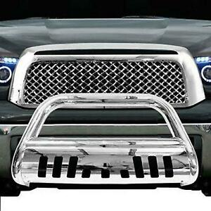 Push Bumper Grill Guard For 07 19 Toyota Tundra sequoi Chrome Bull Bar Brush