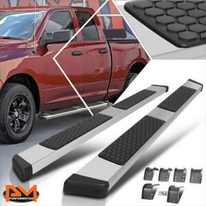 For 09 20 Dodge Ram 1500 3500 Quad Cab 5 5 Honeycomb Step Running Boards Silver