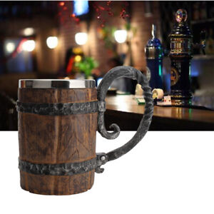 Bucket Shaped Drinkware Bar Restaurant Beer Mug Double Wall Cocktail With Handle