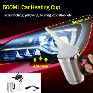 Car Headlight Refurbished 500ml Cup Lens Restoration Electric Heating Cup