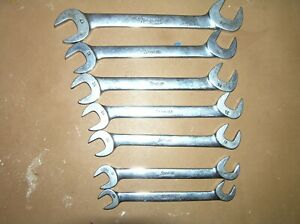 Snap On Metric 7 Piece 4 Way Angle Head Wrench Set 10mm Thru 17mm Vsm807b