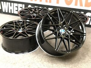 20 Staggered 5x120 Black Wheels set Of 4 For Bmw 3 Series 5 Series M3 Style