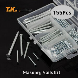 Hardened High Carbon Steel Nails for Masonry Metal Plates Flat Head Zinc Plated