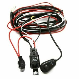 Universal Relay Harness Wire Kit Led On Off Switch For Hid Worklamp Fog Light