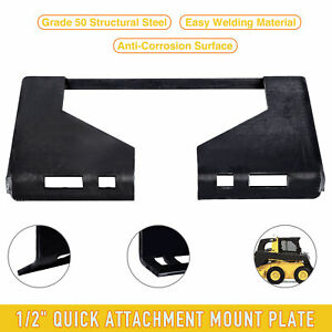 1 2 Steel Quick Attachment Mount Plate For Bobcat Kubota Skidsteer Tractor