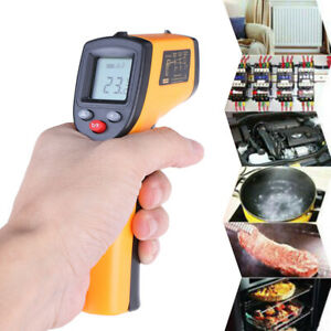 Lcd Digital Non Contact Infrared Thermometer Temperature Meter Pyrometer Goody
